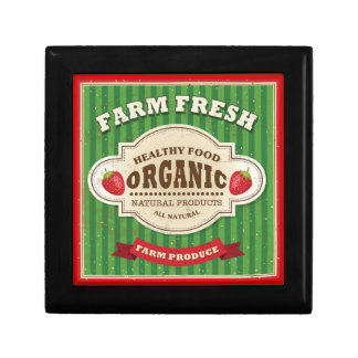 Retro Farm Fresh Poster Design Gift Box