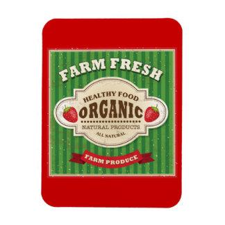 Retro Farm Fresh Poster Design Magnet