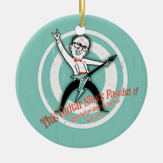 Retro Fascism Slayer Christmas Ornament