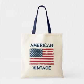 Retro Fashion American Vintage United States Flag Budget Tote Bag