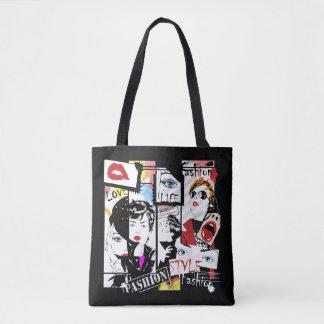 Retro Fashion Pop Art All-Over-Print Tote Bag