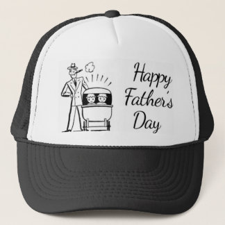 Retro Father's Day Dad and Two Trucker Hat