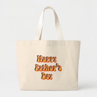 Retro Father's Day Text Canvas Bag