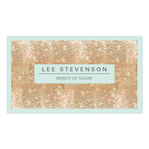 Retro FAUX Gold Sequins Beauty and Fashion Business Cards