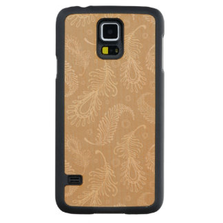 Retro-feater-pale-pattern Carved Maple Galaxy S5 Case