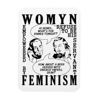 Retro Feminist Humor magnets