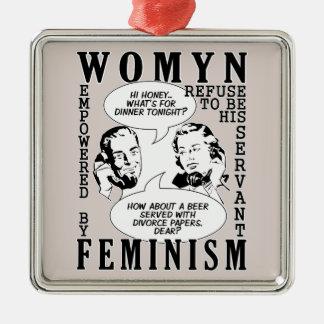 Retro Feminist Humor ornament