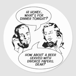 Retro Feminist Humor stickers