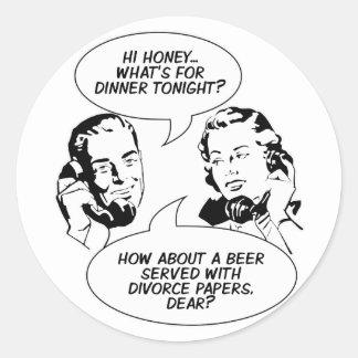 Retro Feminist Humor stickers
