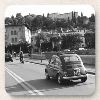 Retro Fiat 500 in Florence Drink Coaster