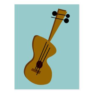 Retro Fifties Guitar Postcard