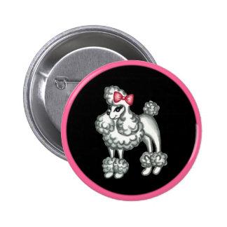 Retro Fifties Poodle Button