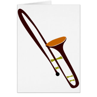 Retro Fifties Trombone Card
