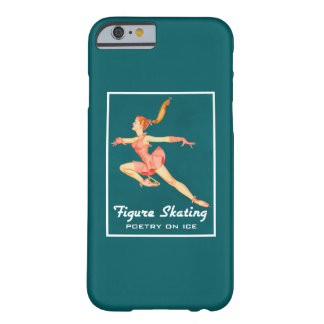 Retro Figure Skater Poetry On Ice Barely There iPhone 6 Case