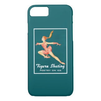 Retro Figure Skater Poetry On Ice iPhone 7 Case