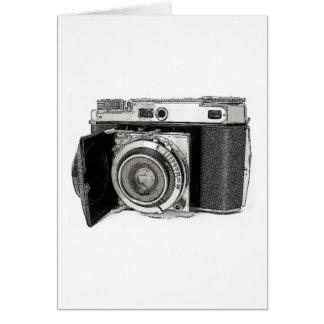 Retro Film Camera Photography Drawing Sketch Card