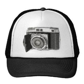 Retro Film Camera Photography Drawing Sketch Trucker Hats