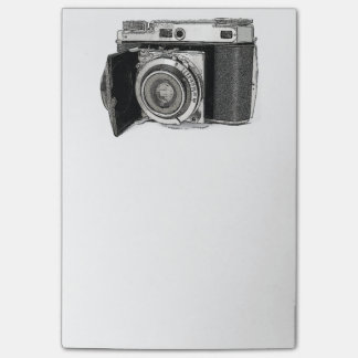 Retro Film Camera Photography Drawing Sketch Post-it Notes