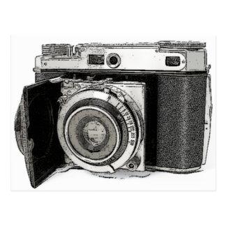 Retro Film Camera Photography Drawing Sketch Postcard