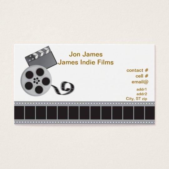 Retro film producer business card