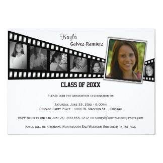 Retro Film Strip Graduation Party Photo Invite