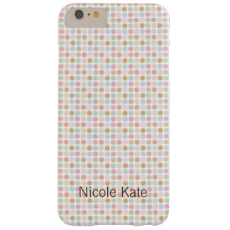 retro fine pastel color polka dots barely there iPhone 6 plus case