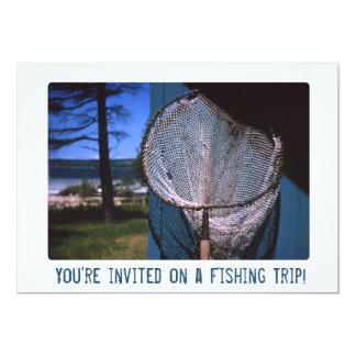 "Retro Fishing Net 5"" X 7"" Invitation Card"
