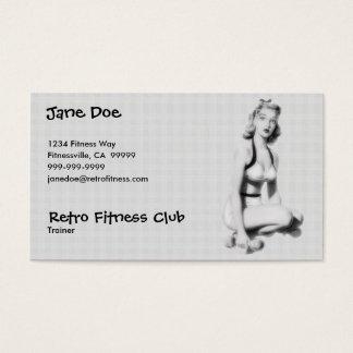 Retro Fitness B/W Business Card