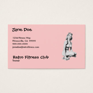 Retro Fitness Business Card