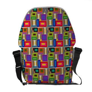 Retro flair color squares commuter bags