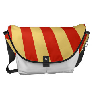 Retro Flame Sun Rays Background Messenger Bags