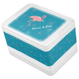 Retro Flamingo Custom Igloo Can Cooler Igloo Cooler