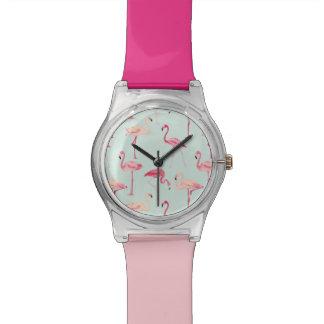 Retro Flamingo Pattern Wrist Watches