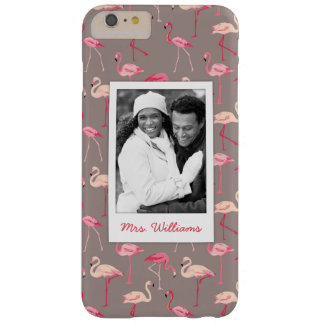 Retro Flamingos | Add Your Photo & Name Barely There iPhone 6 Plus Case