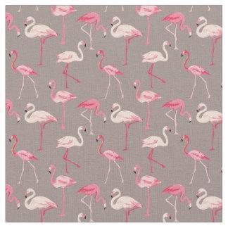 Retro Flamingos Fabric