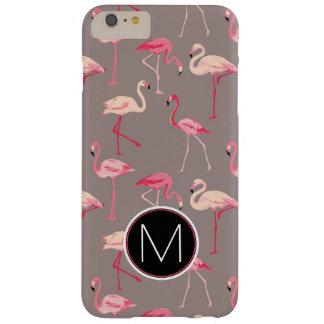 Retro Flamingos | Monogram Barely There iPhone 6 Plus Case