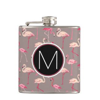 Retro Flamingos | Monogram Flask