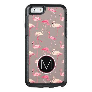 Retro Flamingos | Monogram OtterBox iPhone 6/6s Case