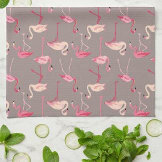 Retro Flamingos | Monogram Tea Towel