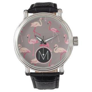 Retro Flamingos | Monogram Watch