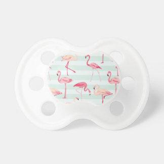 Retro Flamingos On Mint Stripes Dummy