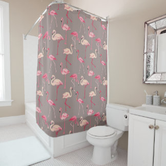 Retro Flamingos Shower Curtain