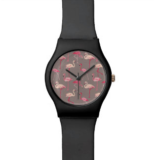 Retro Flamingos Wristwatches