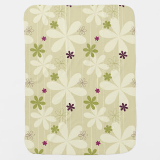 Retro Floral Background Baby Blanket