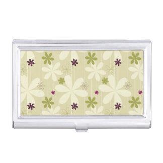Retro Floral Background Business Card Holder