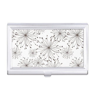 Retro floral background business card holder