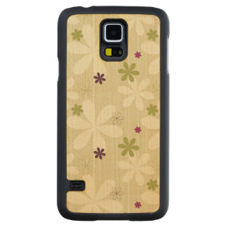 Retro Floral Background Carved Maple Galaxy S5 Case