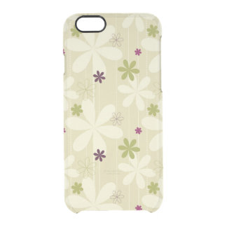 Retro Floral Background Clear iPhone 6/6S Case
