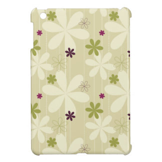 Retro Floral Background Cover For The iPad Mini