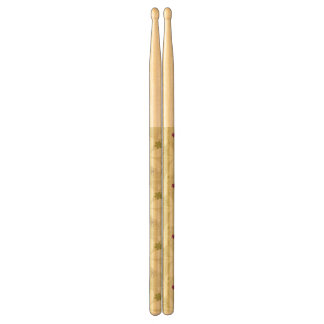 Retro Floral Background Drumsticks
